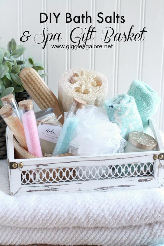 Diy Bath Salts Amp Spa Gift Basket