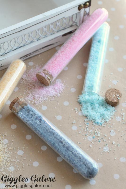 DIY Bath Salts in Test Tube
