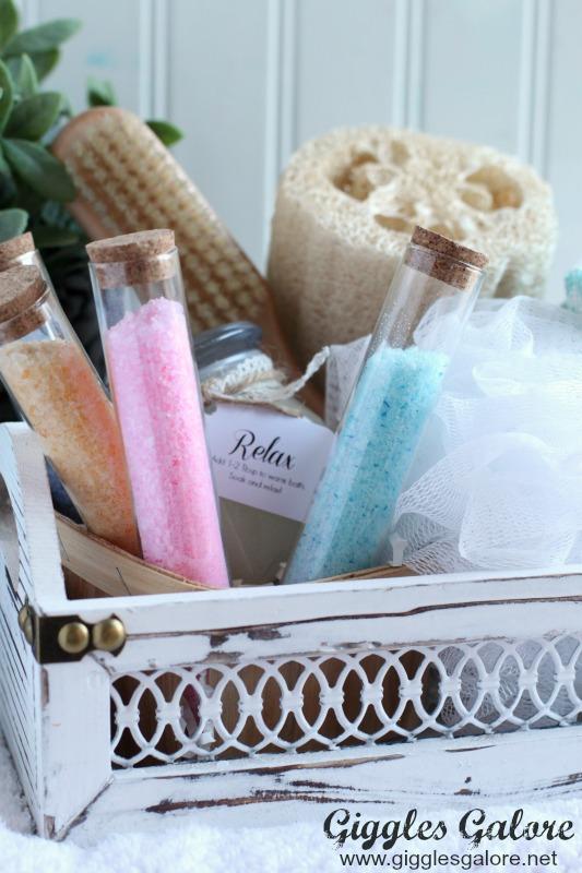 DIY Test Tube Bath Salts