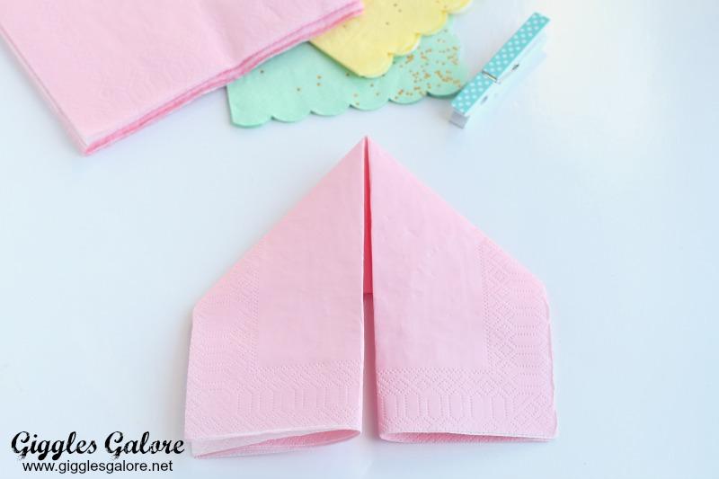 Easter bunny napkins - Fold bunny shaped napkin ...