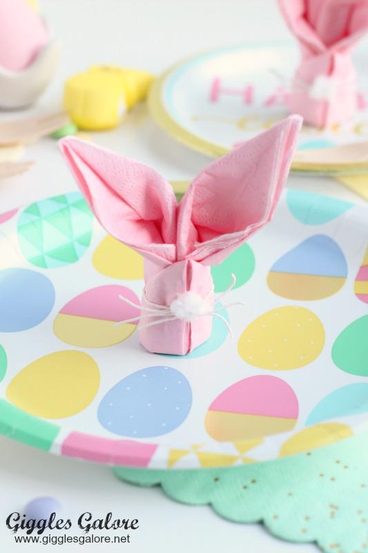 Easter Egg Plates and Bunny Napkins