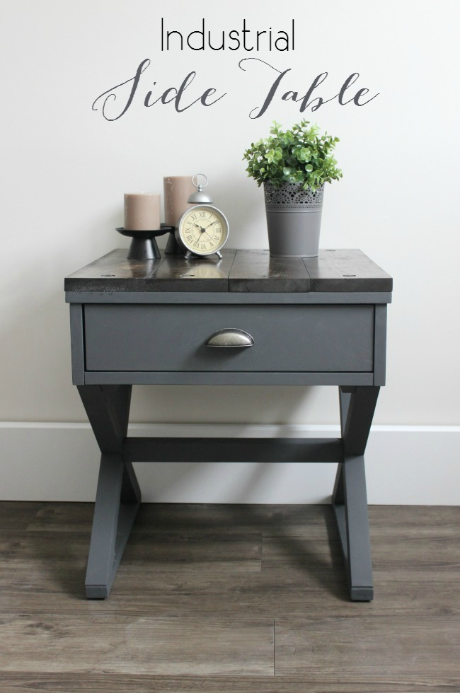 Industrial-Side-Table