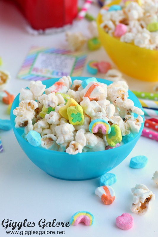Lucky Charm Popcorn in Bowls