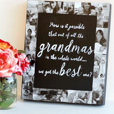 DIY Picture Frame Collage Chalkboard