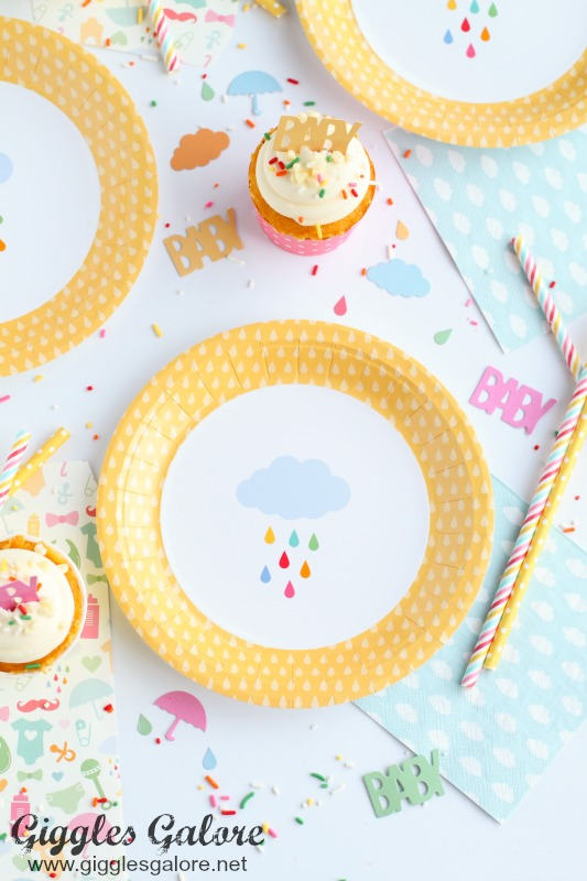 April Showers Plates