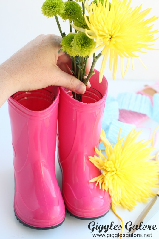 Flowers in Rain Boots