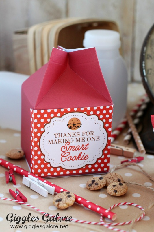 Milk Carton Smart Cookie Teacher Appreciation Gift