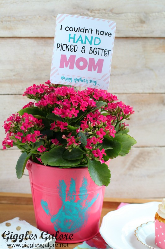 Mother's Day Hand Print Flower Pot