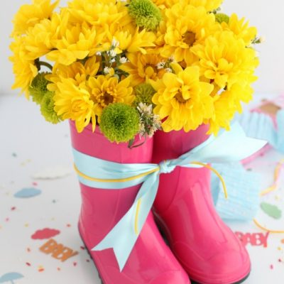 Rain Boot Flower Arrangement
