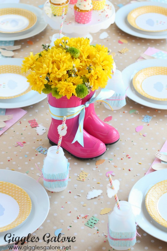 Rain Boot Flower Arrangement_Baby Shower