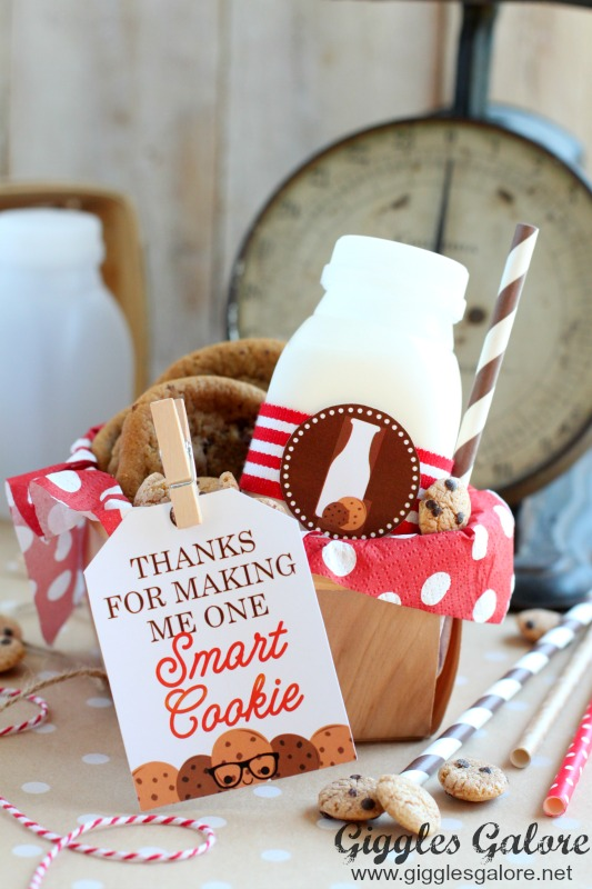 Thanks for Making Me One Smart Cookie Printable Tag