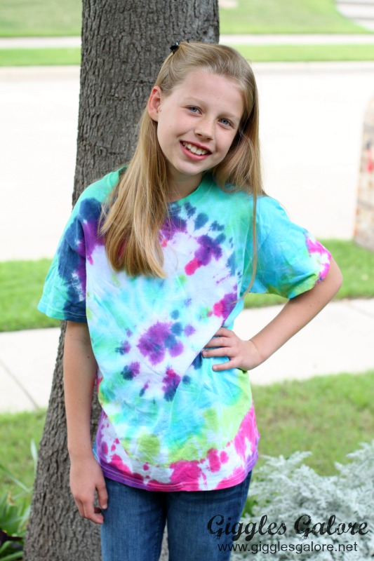 Aubrey Wearing Tie Dye Shirt