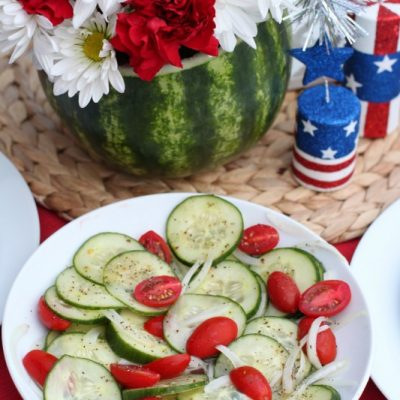 Cucumber and Onion Salad + Giveaway