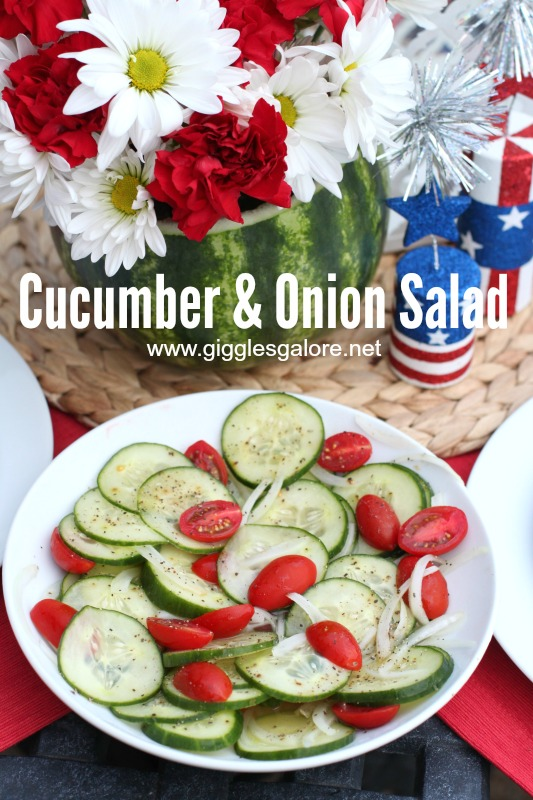 Cucumber & Onion Salad_Giggles Galore