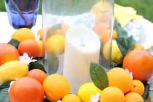 DIY Citrus Wreath Centerpiece