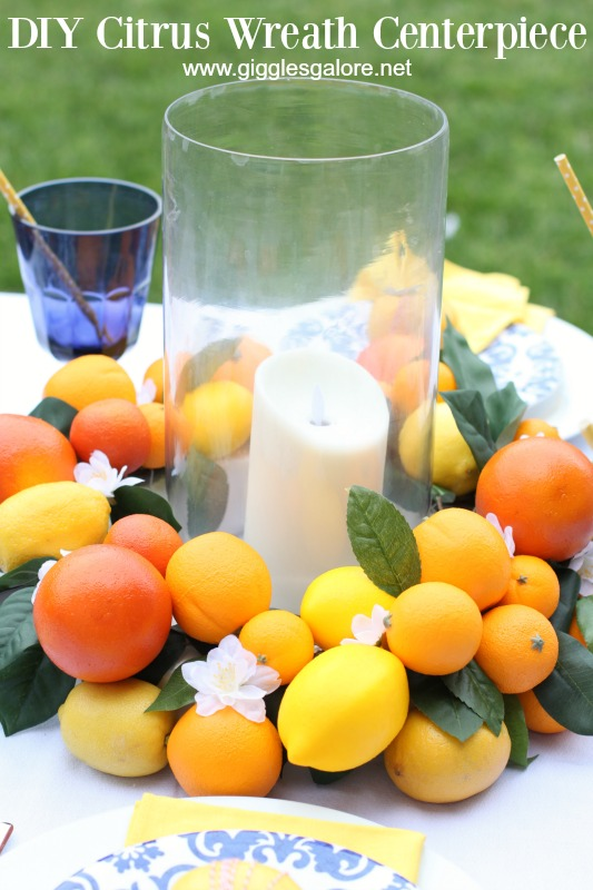 DIY Citrus Wreath Centerpiece_Giggles Galore