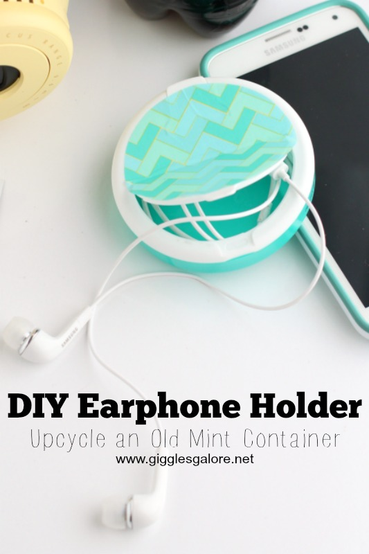 DIY Earphone Holder_Upcycle Mint Container