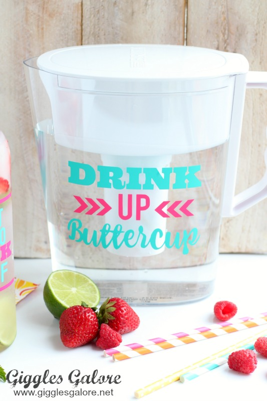 Drink Up Buttercup Britta Water Pitcher