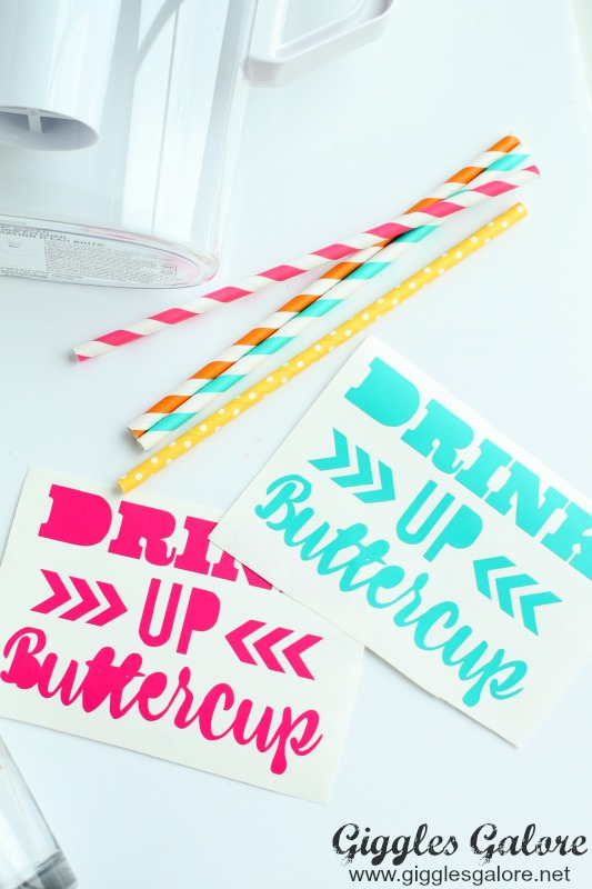 Drink Up Buttercup Vinyl Design