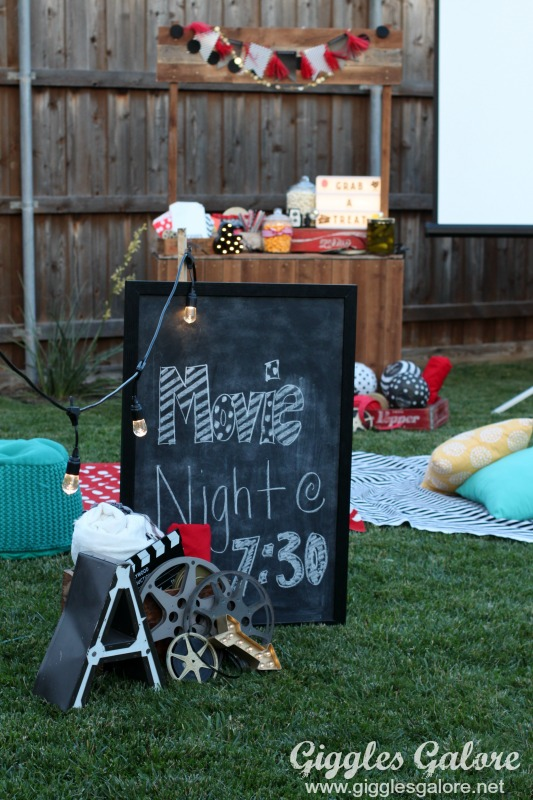 how to plan an outdoor movie night giggles galore