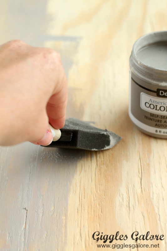 Painting Color Stain on Wood