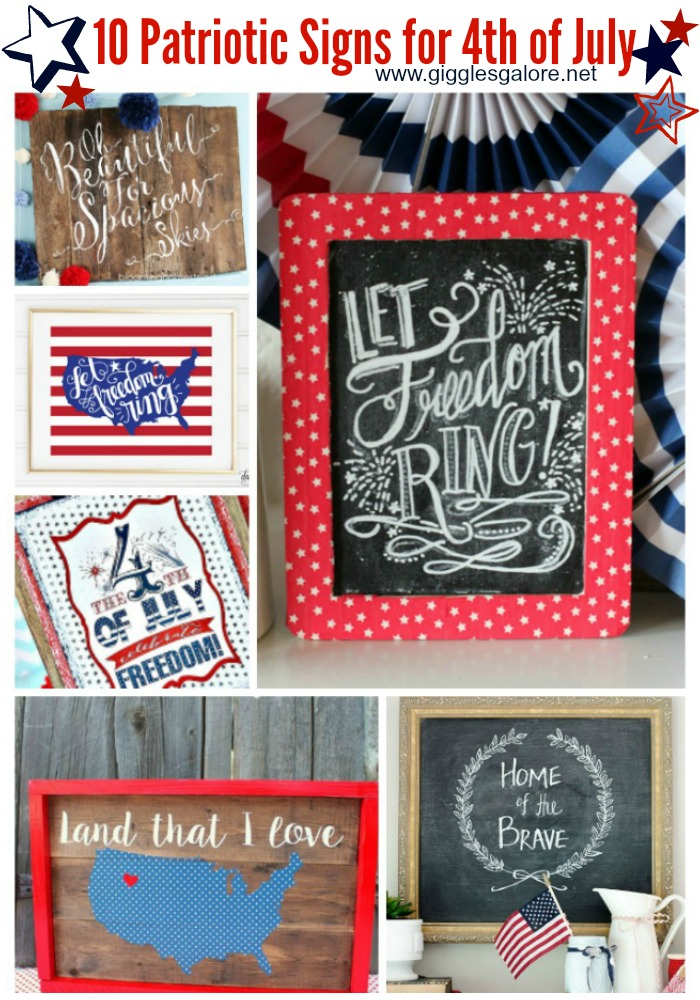 10 Patriotic Signs for 4th of July_GG