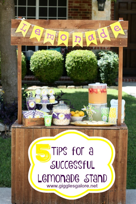5 Tips for a Successful Lemonade Stand