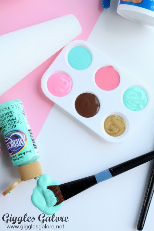 DIY Melted Ice Cream Cone Paint