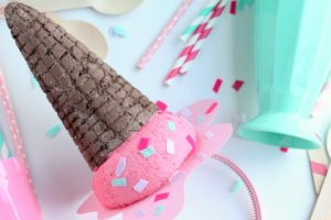 DIY Melting Ice Cream Cone Headband