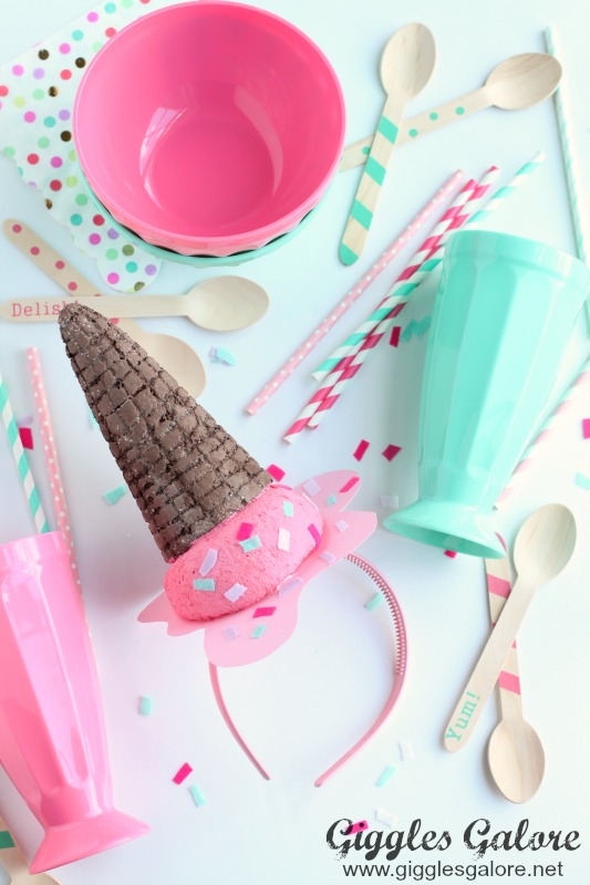 DIY Melted Ice Cream Cone Party