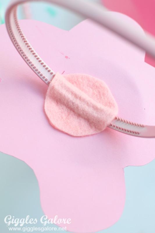 DIY Melted Ice Cream Headband Felt Piece