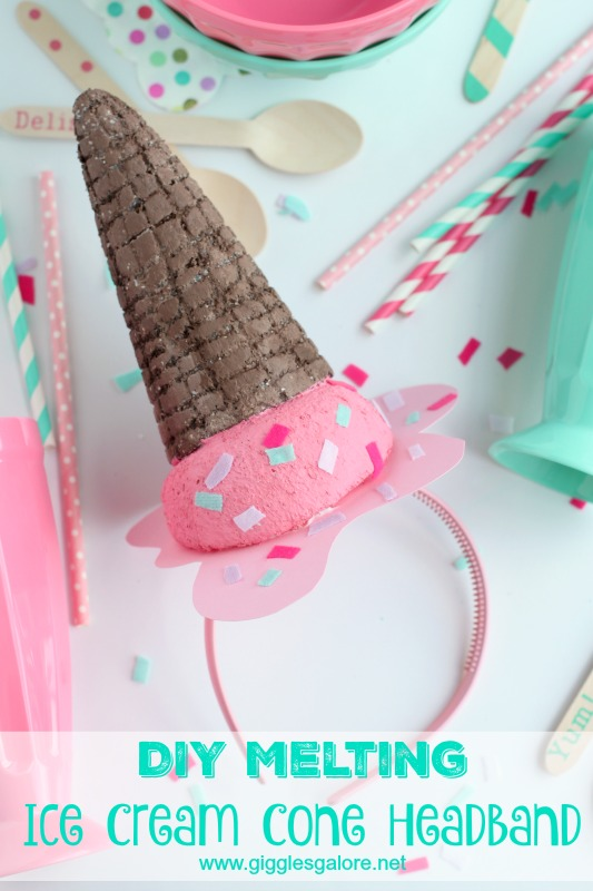 DIY Melting Ice Cream Cone Headband_GG