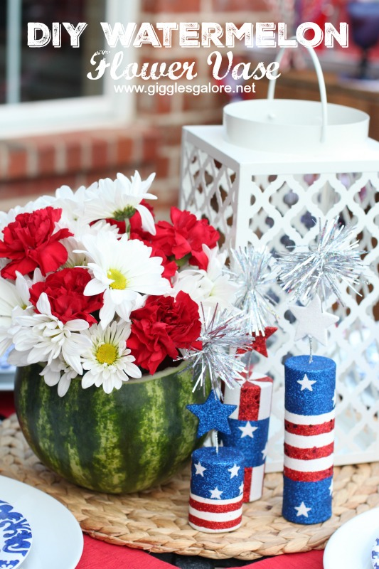 DIY Watermelon Flower Vase_Giggles Galore
