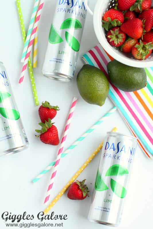 Dasani Sparkling Lime Sleek Cans