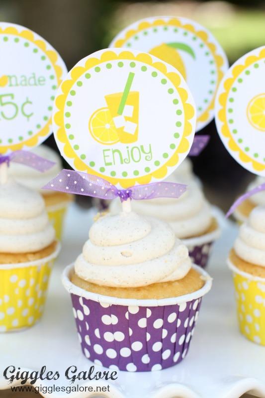 Lemonade Stand Cupcake Topper