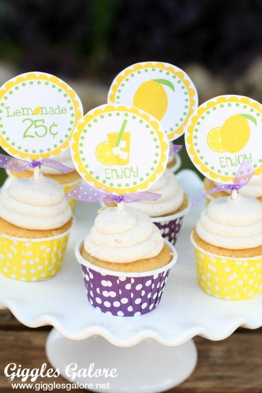 Lemonade Stand Cupcakes