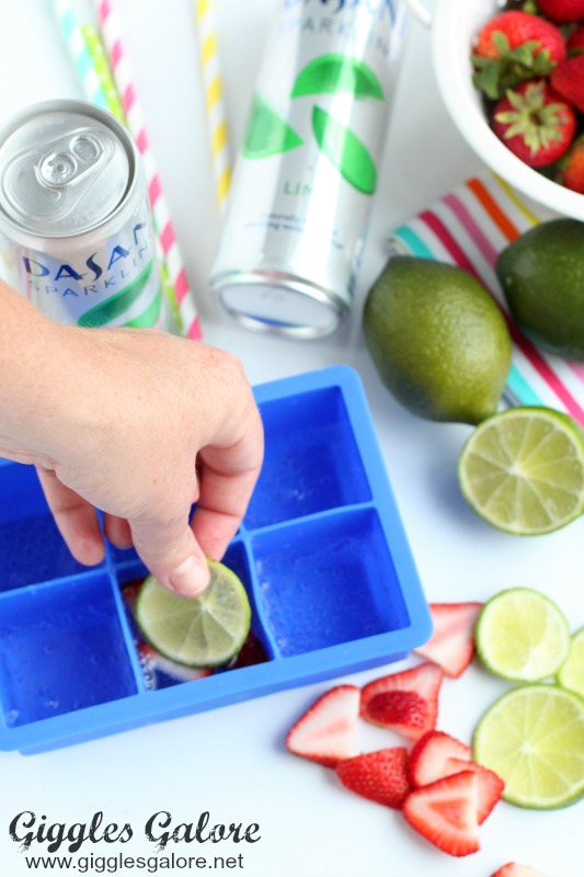 Lime in Ice Cube Tray