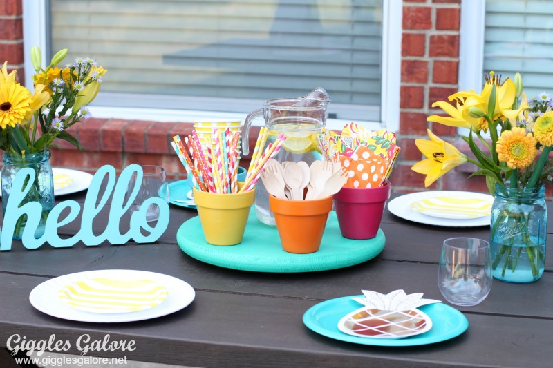 Outdoor Entertaining with DIY Lazy Susan