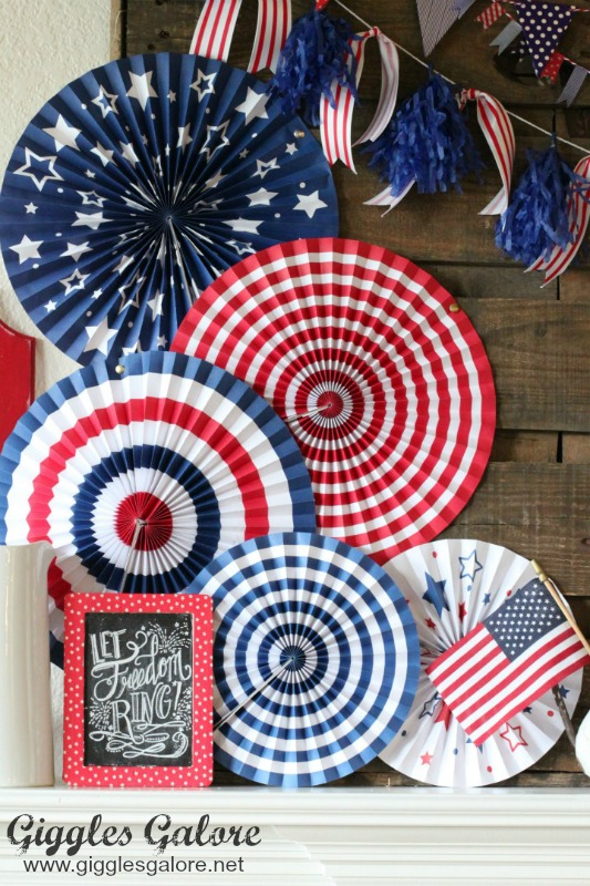Patriotic Paper Fan_Patriotic Mantel Display_GG