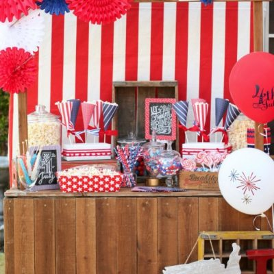 Patriotic Popcorn Bar for 4th of July