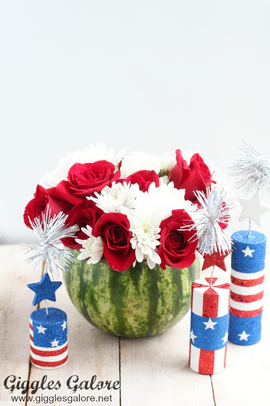 Patriotic Watermelon Flower Vase