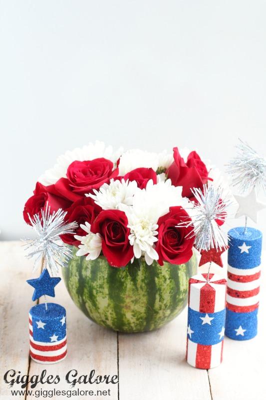 Patriotic Watermelon Flower Vase