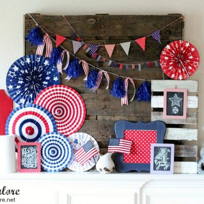 4th of July Patriotic Mantel