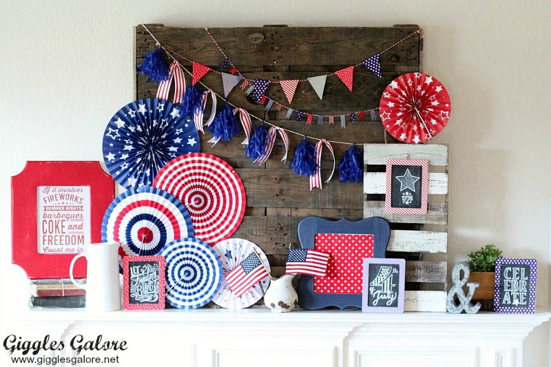 Simple Patriotic Mantel Display_GG