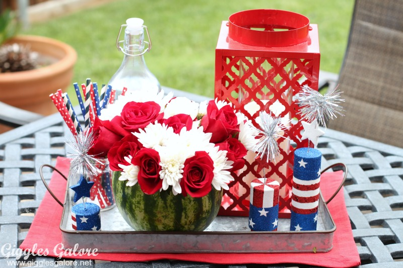 Watermelon Flower Vase Centerpiece