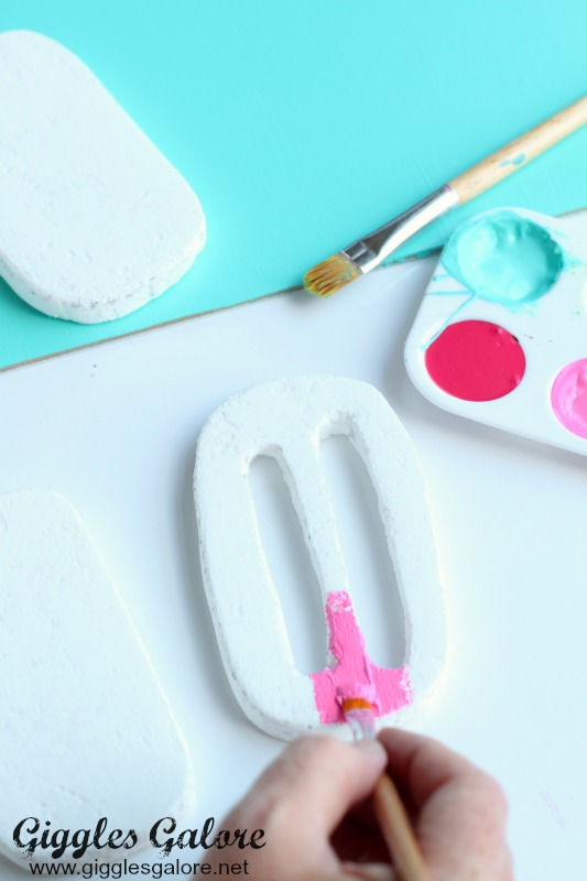 Painting Foam Popsicle Art