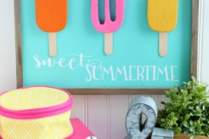 DIY Foam Popsicle Sign