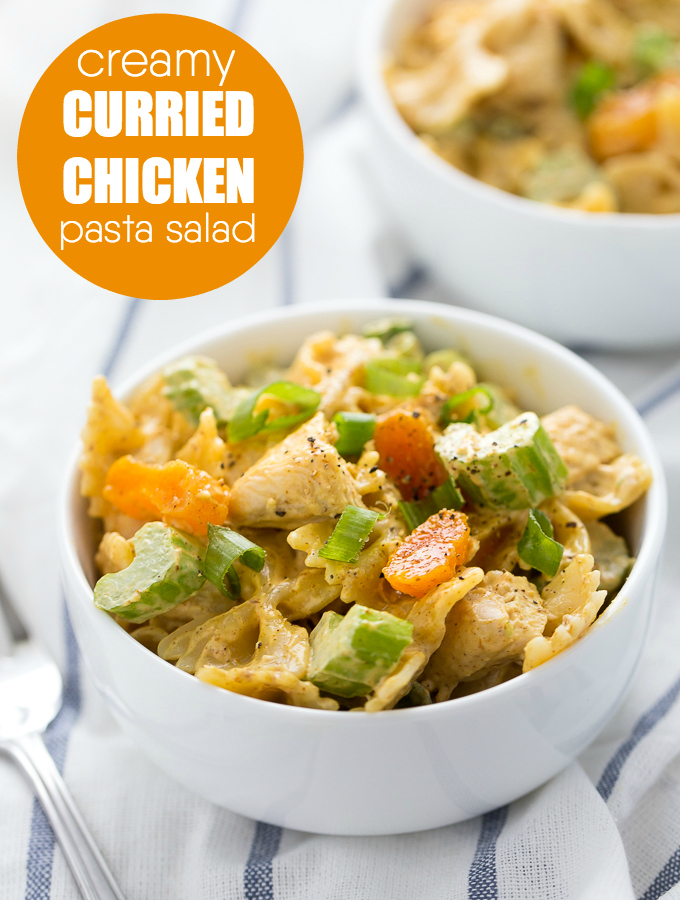 Creamy Curried Chicken Pasta Salad | Simply Stacie