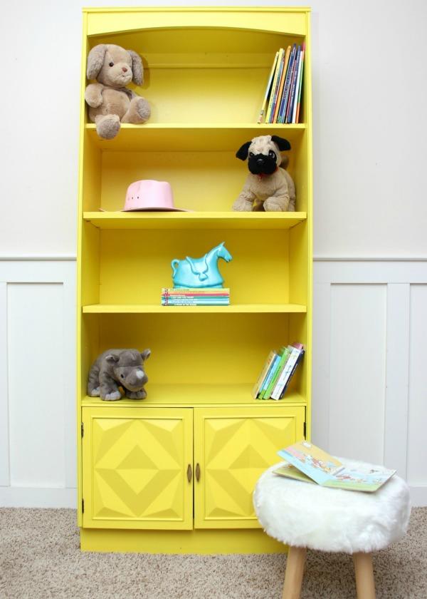 yellow-bookshelf-makeover-1