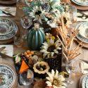 Fall entertaining harvest dinner table